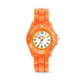 Colori Kidz 5-CLK013 - Kinderhorloge - siliconen band - oranje - 30 mm