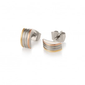 Boccia Titanium 05006-04 Oorknoppen Titanium Zilver-, goud- en rosékleurig