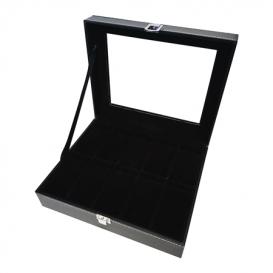 MAX Horlogebox voor 10 horloges leder zwart-zwart 818200384