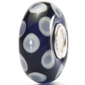 Trollbeads 1531804D Kraal Colour Joy zilver-glas zwart-paars