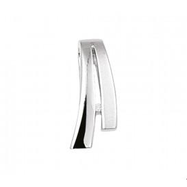 TFT Hanger Zilver gerhodineerd Diamant 0.007 Ct. Poli/mat 17,5 x 8 mm