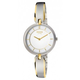 Boccia Horloge Titanium zilver- en goudkleurig 30 mm 3164-03