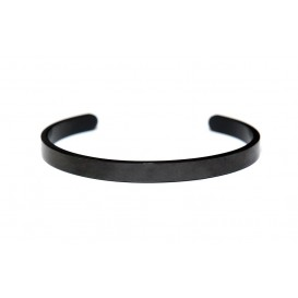 Key Moments 8KM-BM0011 Bangle met tekst strength comes from within one-size zwart