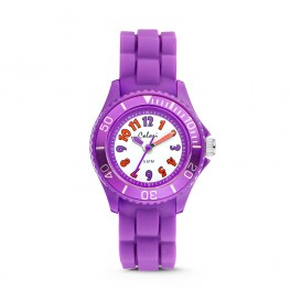 Colori Kidz 5-CLK015 - Kinderhorloge - siliconen band - paars - 30 mm
