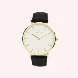 KRAEK Phoebe | Gold | Black 36 mm Dameshorloge
