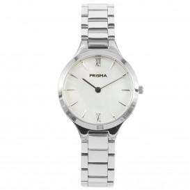 Prisma horloge 1460 Dames edelstaal Parelmoer 5 ATM P.1460 Dameshorloge 1