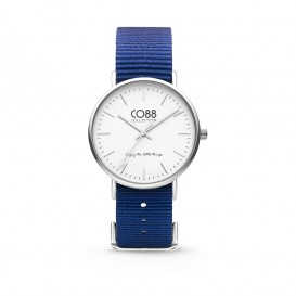 CO88 Collection 8CW-10016 - Horloge - Nato nylon - donker blauw - 36 mm
