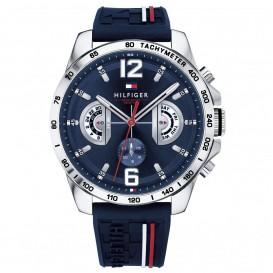 Tommy Hilfiger Horloge Decker 48 mm zilverkleurig-blauw 1791476