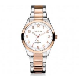 Zinzi horloge Watch My Love zilver-/rosékleurig + gratis zilveren armband ZIW212