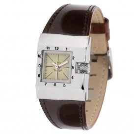 **Coolwatch 110015 Square Stripes brown CW.169 Kinderhorloge 1