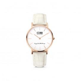 CO88 Collection Watches 8CW 10081 Horloge - Leren Band - Ø 32 mm - Rosékleurig