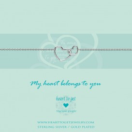Heart to get B218ENH15S my heart belongs to you armband zilver