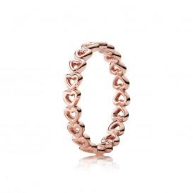 Pandora 180177 Ring van hartjes rosé maat 56