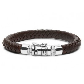 Buddha to Buddha armband Ben Small Leather Brown (E) 19 cm 180BR