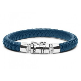 Buddha to Buddha armband Ben Small Leather Blue (E) 19 cm 180BU