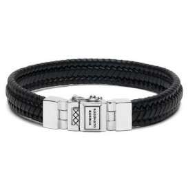 Buddha to Buddha armband Edwin Small Leather Black (F) 21 cm 181BL