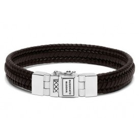 Buddha to Buddha armband Edwin Small Leather Brown (F) 21 cm 181BR