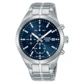 Pulsar herenhorloge blauwe wijzerplaat Chronograaf 41 mm PM3121X1