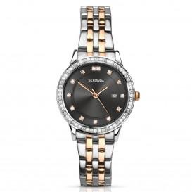 Sekonda horloge 2389 Dames Bicolor Strass SEK.2389 Dameshorloge 1