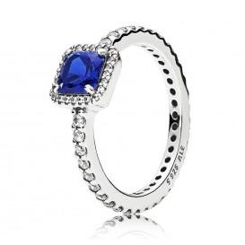 Pandora 190947NBT Ring Tijdloze elegantie zilver blauw Maat 56