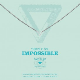 Heart to get N248STR15S believe in the impossible necklace small triangle silver