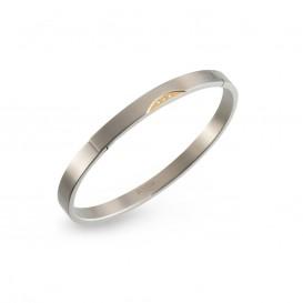 Boccia 03006-03 Armband bangle titanium met briljant 0,015 crt