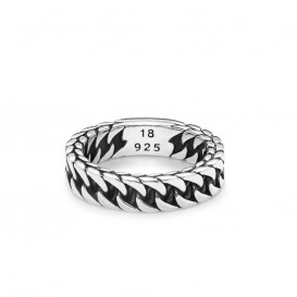 Buddha to Buddha ring Esther Small Maat 19 zilver 611