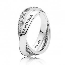 Pandora 196547CZ Ring Promiss zilver Maat 52