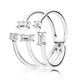 Pandora Ring 197527CZ Shards of Sparkle zilver Maat 56