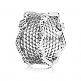 Pandora Ring 197703CZ zilver Lace of Love Maat 58