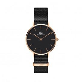 Daniel Wellington DW00100215 Classic Petite Cornwall Black rosegold Dames horloge