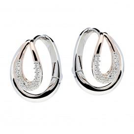 Zilveren Oorbellen klapcreolen met zirconia rosékleurig 107.5412.00