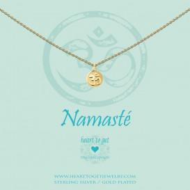 Heart to Get N256COH15G Ketting Namaste Coin Ohm goudkleurig