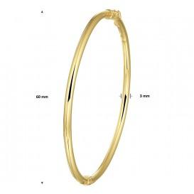 Zilgold Slavenband Goud met Zilveren Kern Scharnier Ronde Buis 3 X 60 mm