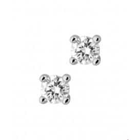 Oorknoppen Diamant 0.50 Ct. Witgoud Glanzend
