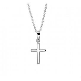 TFT Zilveren Ketting Kruis 1,1 mm 41 + 4 cm