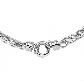 TFT Collier staal Vossestaart 8 mm breed 45 cm lang