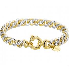 Zilgold Armband zilver/goud bicolor gourmetschakel 7 mm 19,5 cm