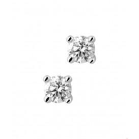 Oorknoppen Diamant 0.40 Ct. Witgoud Glanzend