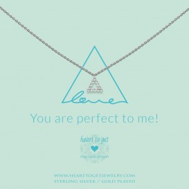 Heart to get N387TRI18S Necklace triangle You are perfect to me! silver