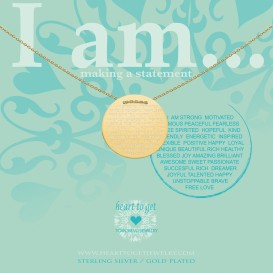 Heart to get IAM413N-IAMSTR-G i am... strong …ketting verguld