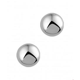 Oorknoppen Halfbol Witgoud Glanzend 7 mm x 7 mm