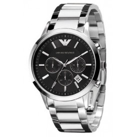 Emporio Armani Horloge Ranato staal zilverkleurig AR2434