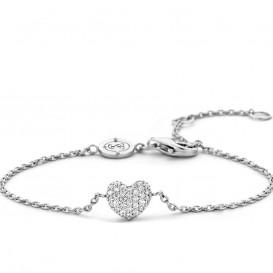 Ti Sento - Milano 2885ZI zilveren armband met zirkonia hartje