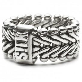 Silk Jewellery 201 Ring Chevron zilver Maat 18,5