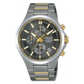 Pulsar Horloge Chronograaf titanium tweekleurig PM3113X1