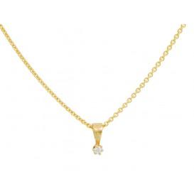 Glow Gouden Ketting met diamant 0.03 ct - gh/si3 45 cm 202.2005.45