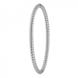 Glow 204.3362.60 Armband Bangle Rond Tors witgoud 3,5 x 60 mm