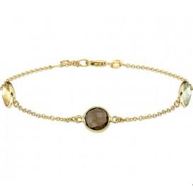 Armband Goud Diverse Edelstenen 17,5 + 2 cm
