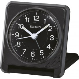 Seiko Reiswekker snooze zwart QHT015K